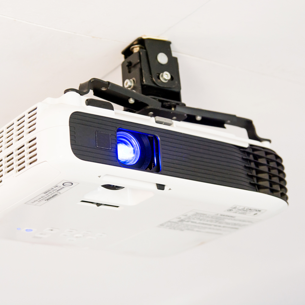 Projector active ceiling speakers