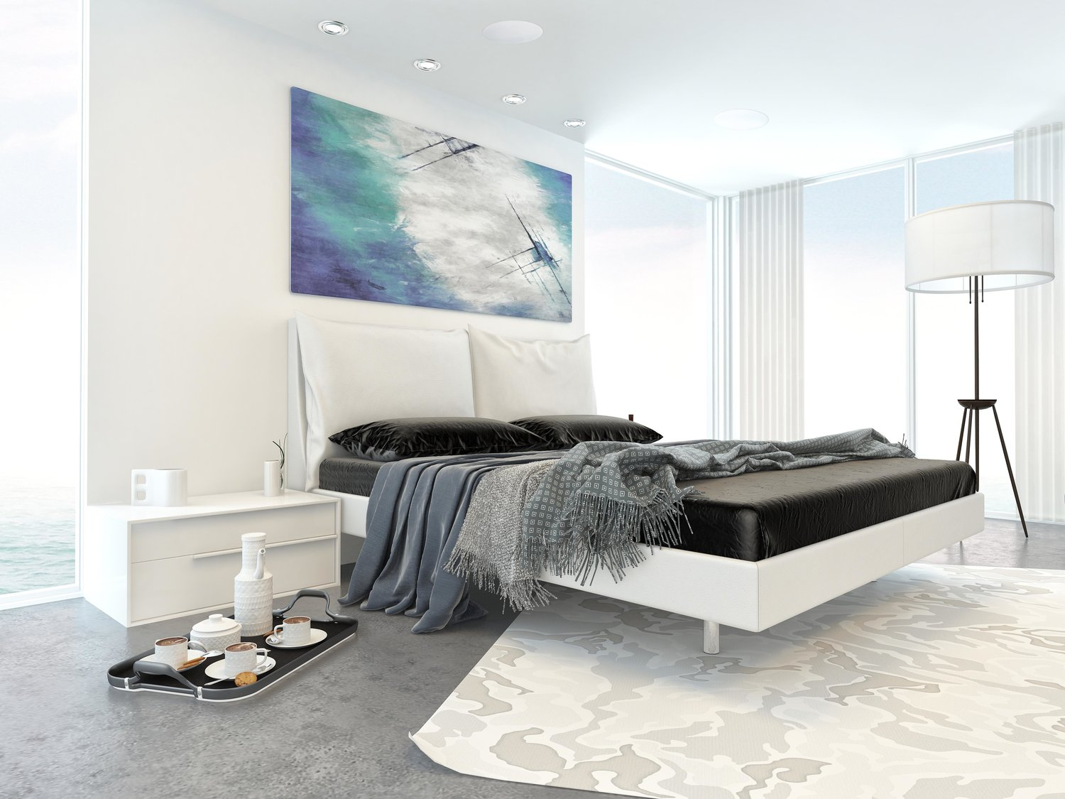 why the bedroom is the ideal place for bluetooth ceiling