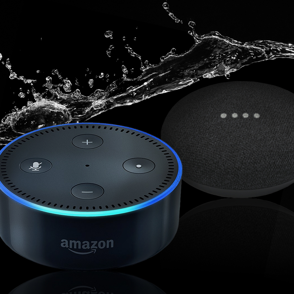 Works with Amazon Echo & Google Home devices
