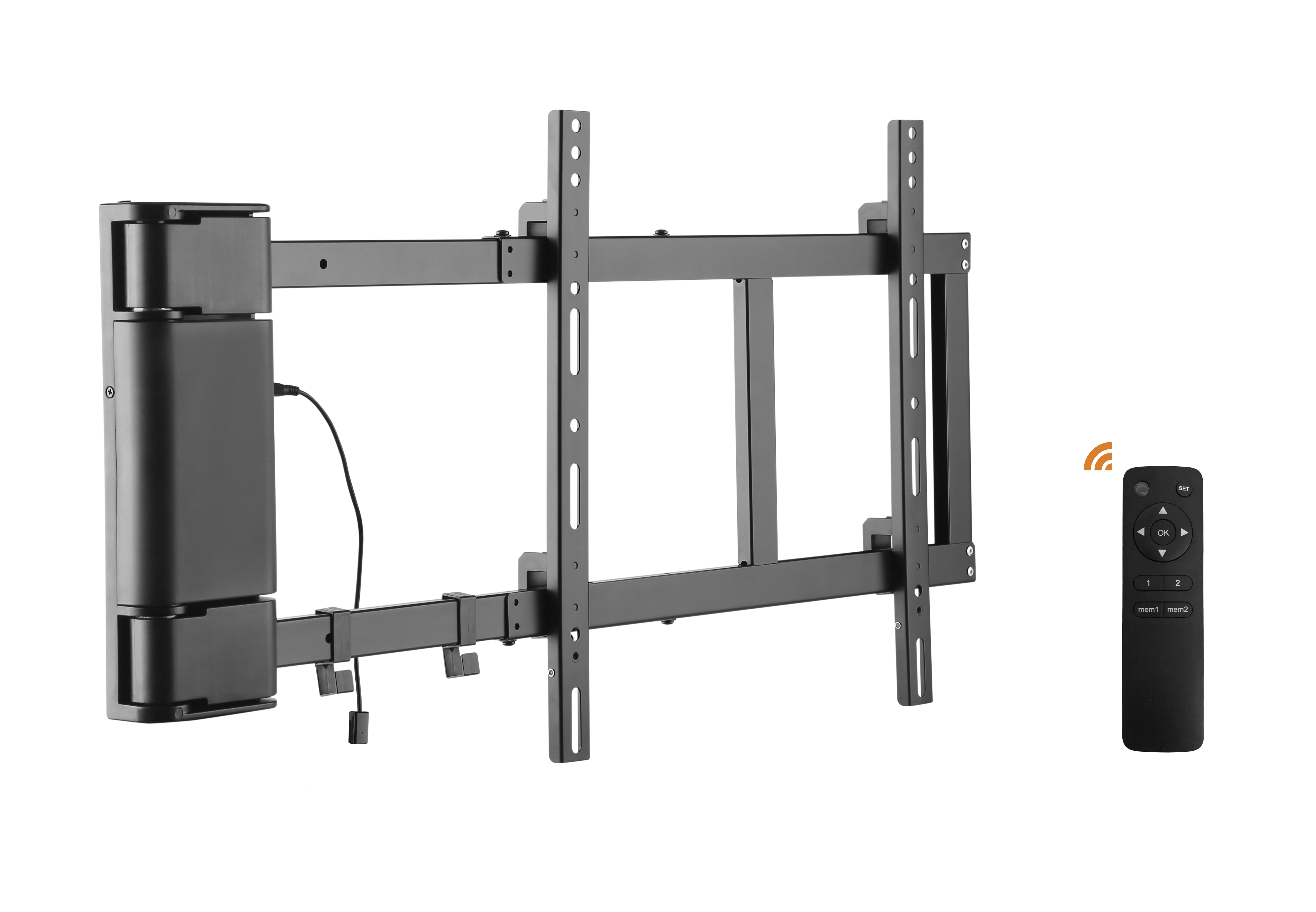 Remote Control Motorised 90 Deg Wall Mount 32 60 Lithe Audio Ltd Wiring Up Mounted Tv