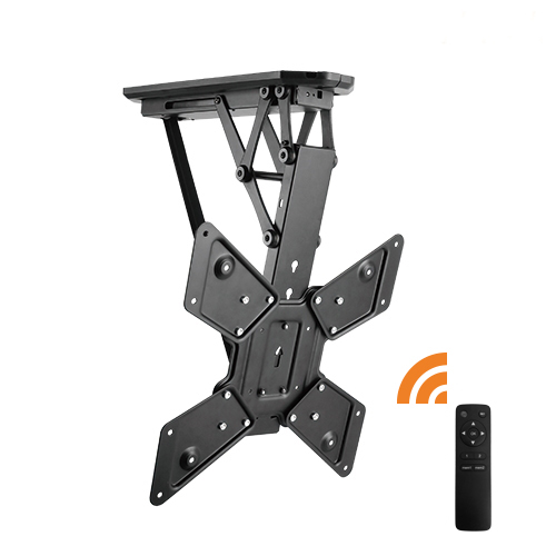 Motorised Flip Down Ceiling Mount 23''-55'' - Remote and APP control