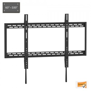 X-Large Heavy Duty Fixed Curved Flat TV Wall Mount 60-100''