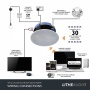 Lithe Audio WiFi All-in-one IP44 Multi-room Bathroom Ceiling Speaker  (SINGLE - Master)