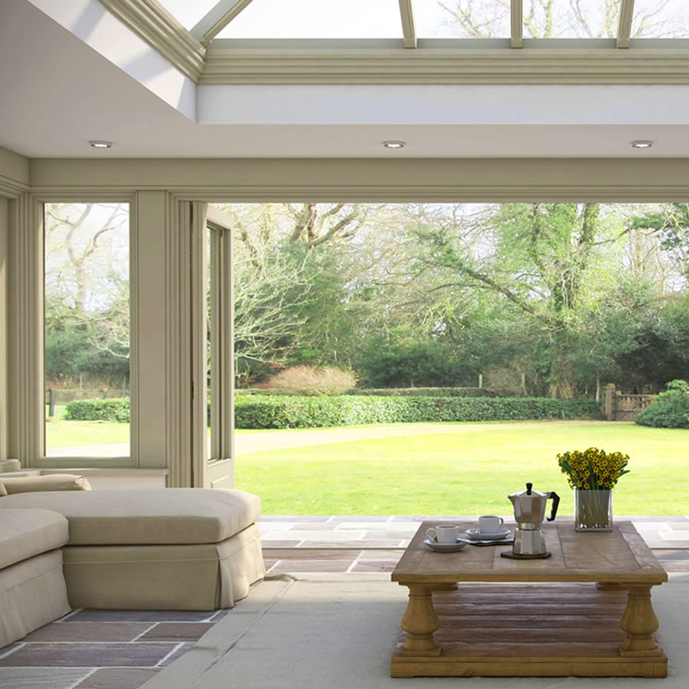Garden room ceiling speakers