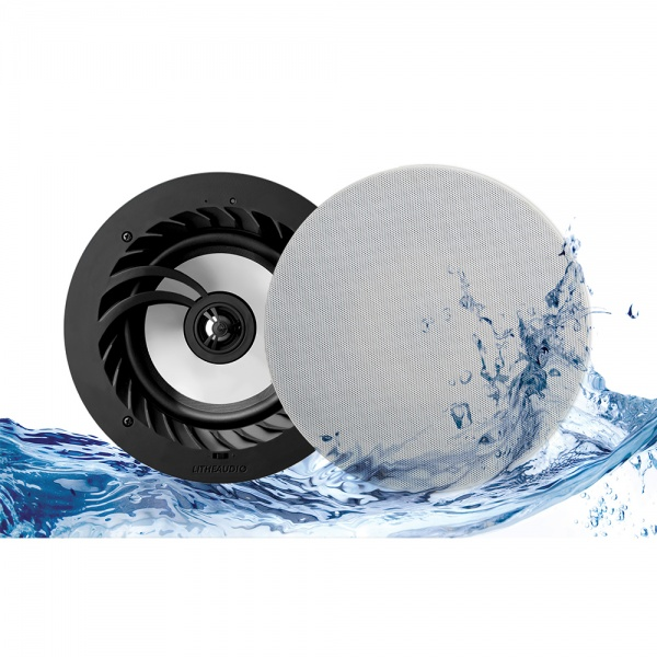 Lithe Audio Bluetooth 5 IP44 Rated Bathroom 6.5'' Ceiling Speaker (Pair)