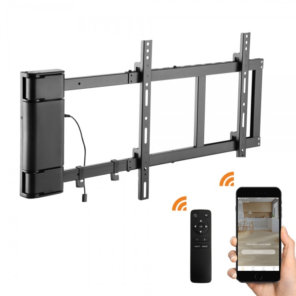 Motorised 90 Deg Wall Mount 32-60'' - Remote and APP control